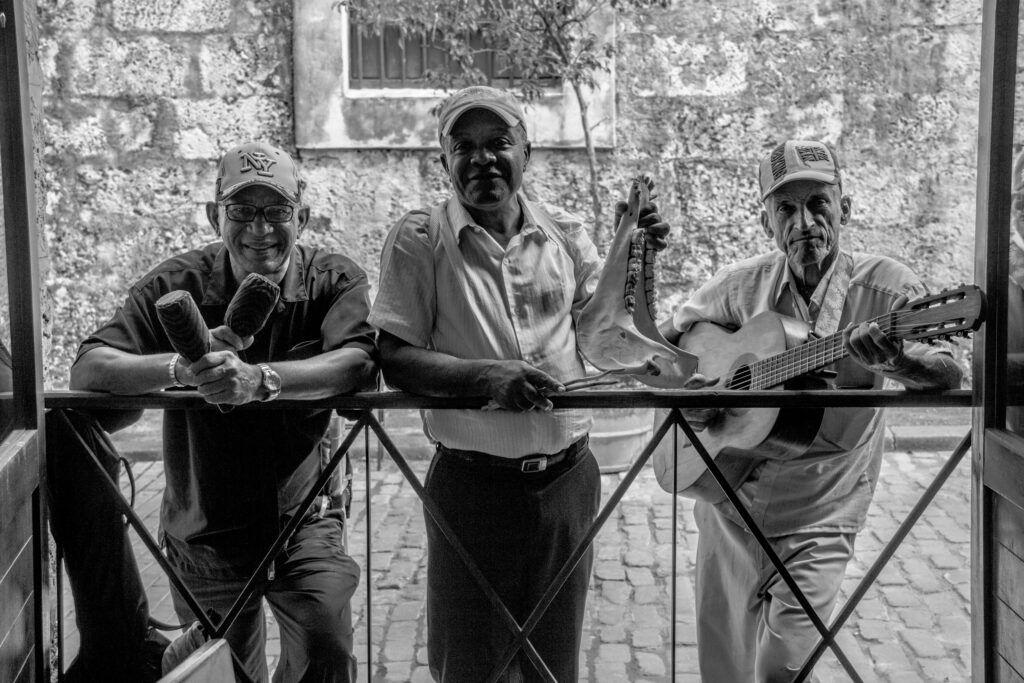 Retrato Músicos Blanco y Negro-La Havana, Cuba-2014