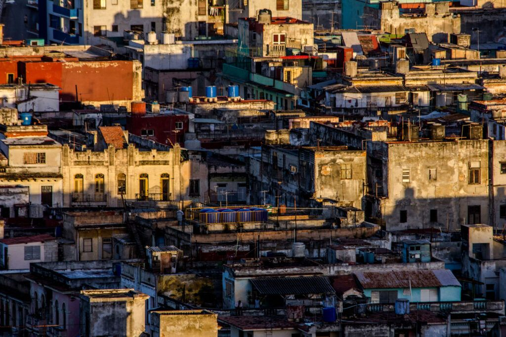 La Havana, Panorámica Edificios Atardecer-La Havana, Cuba-2014