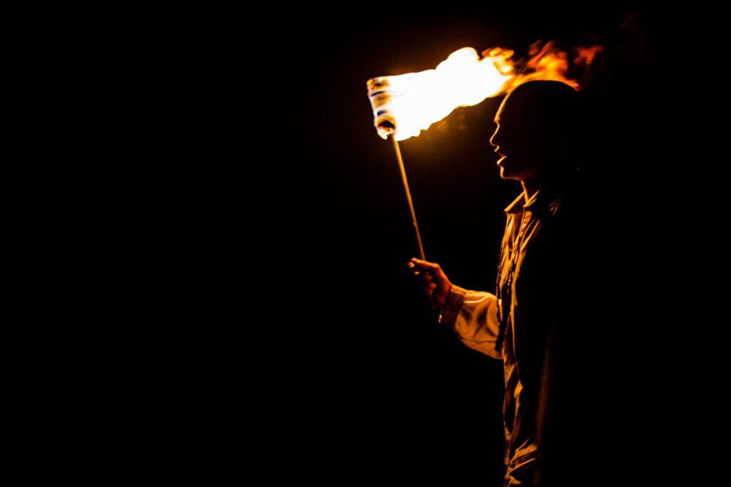 Fuego en Ceremonia Cañonazo-La Havana, Cuba-2014